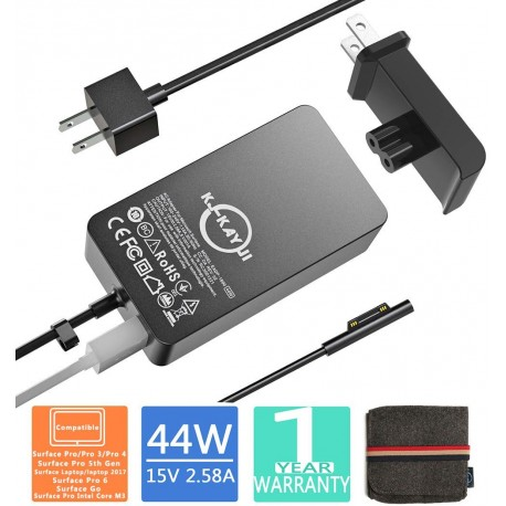 Surface Pro Charger,44W 15V 2.58A Power Supply
