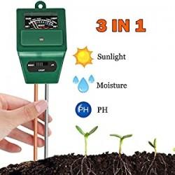 Soil Meter, 3-in-1 Moisture Meter Soil Test Kit