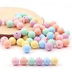 60PCS 15mm Candy Color