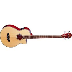 Oscar Schmidt 4-String Acoustic-Electric Bass with Gig Bag - Natural