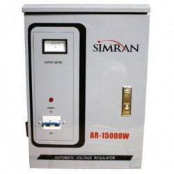 Simran 110 Volt to 220/240 Volt Power Converter Regulator Stabilizer with Built-In Voltage Transformer, 15,000W (AR-15000)