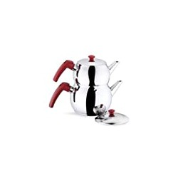 Turkey Dishwasher Safe Total Capacity 2.2 qt-2.1 lt (Mini with Red Handles)