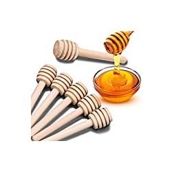 24 Pack Mini Wooden Honey Dipper Sticks