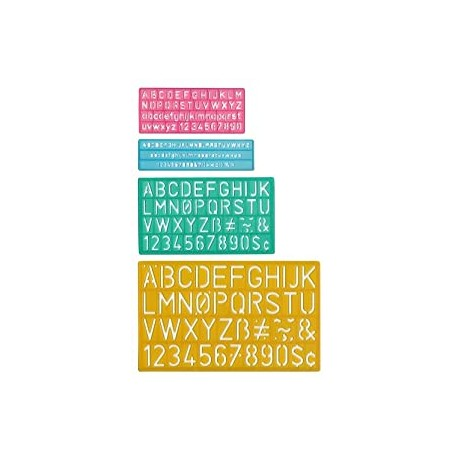 Letter Stenciling Guides (4 sizes)