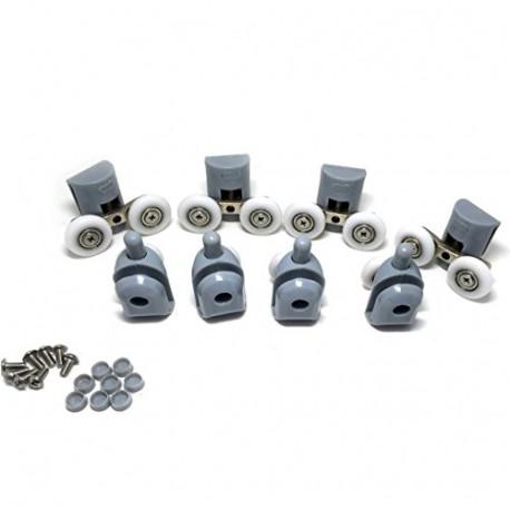 Pack 2 of 8PCS x Shower Door Rollers(4xTop + 4xBottom),Roller diameter