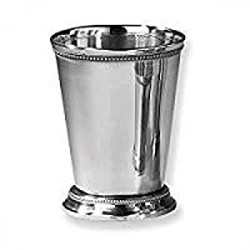 """Pack 8 of Beaded Mint Julep Cup, 4.5"""", Silver"""